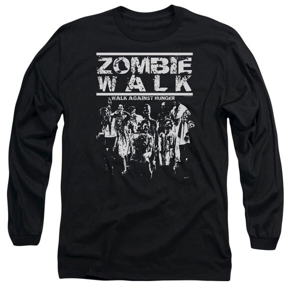 Zombie Walk Long Sleeve Adult T-Shirt
