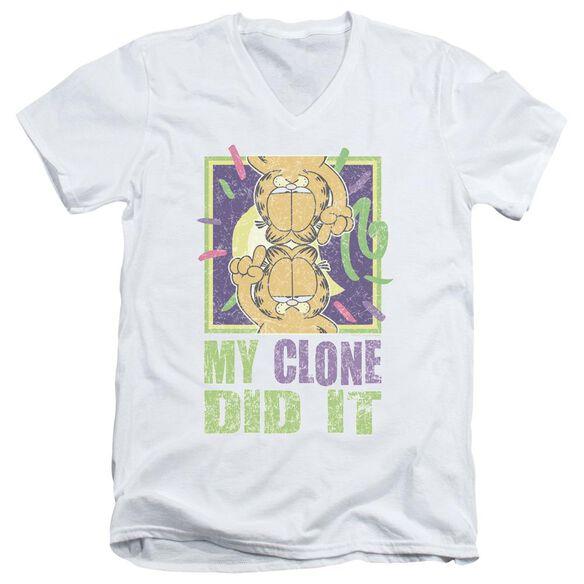 Garfield My Clone Did It Short Sleeve Adult V Neck T-Shirt