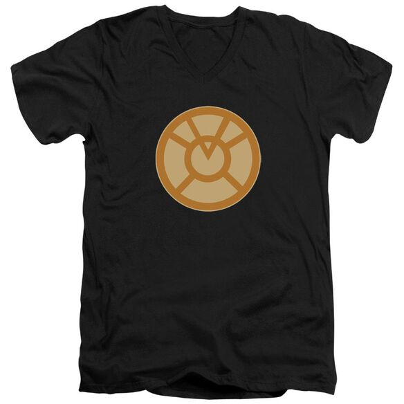 Green Lantern Orange Symbol Short Sleeve Adult V Neck T-Shirt