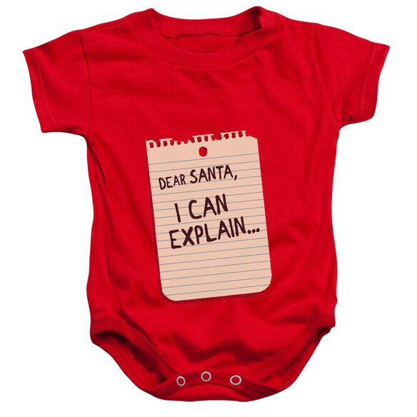 Note Infant Snapsuit Red Md