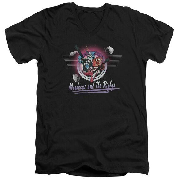 The Regular Show Mordecai & The Rigbys Short Sleeve Adult V Neck T-Shirt