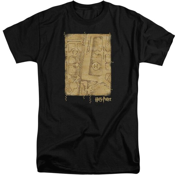 Harry Potter Marauders Map Interior Short Sleeve Adult Tall T-Shirt
