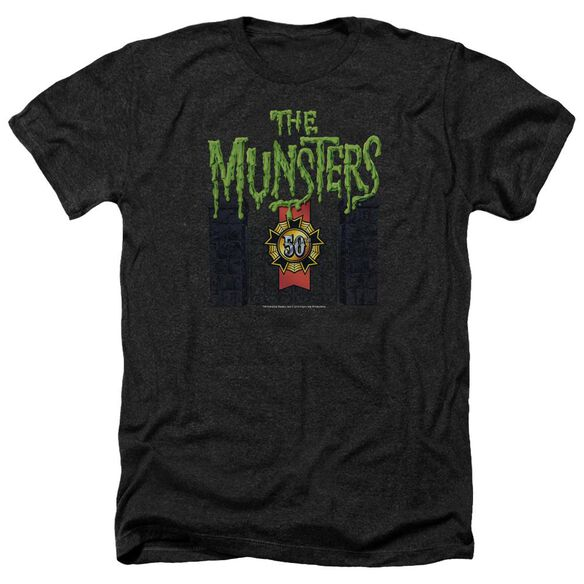 The Munsters 50 Year Logo Adult Heather