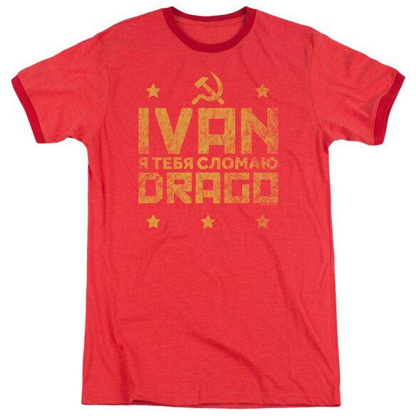 Rocky Iv Drago Break Adult Ringer Red