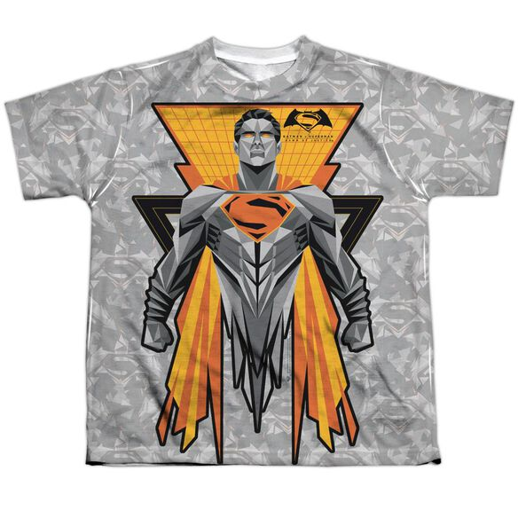 Batman V Superman Super Tech Sub Short Sleeve Youth Poly Crew T-Shirt
