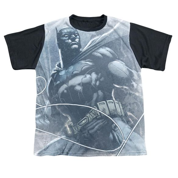 Batman Protector Short Sleeve Youth Front Black Back T-Shirt