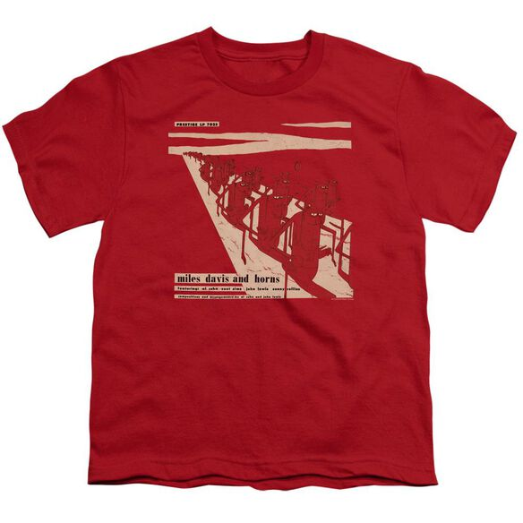 Miles Davis Davis And Horn Short Sleeve Youth T-Shirt