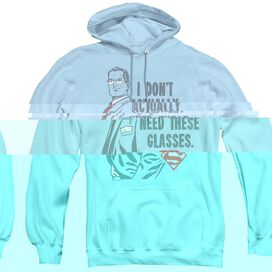 Superman Dont Need Glasses - Adult Pull-over Hoodie - Light Blue