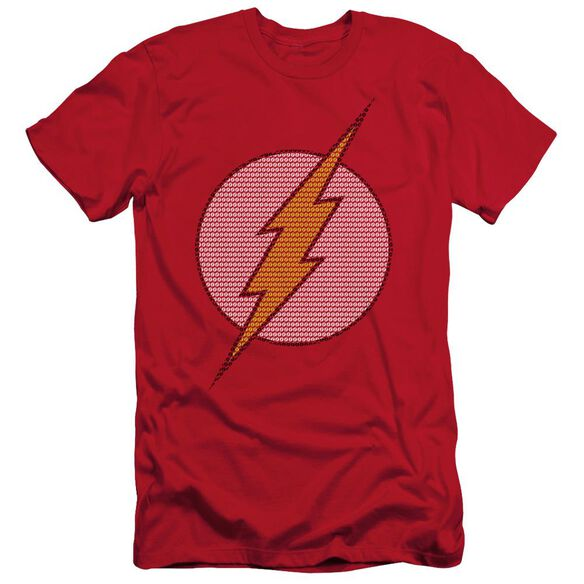 Dc Flash Little Logos Short Sleeve Adult T-Shirt
