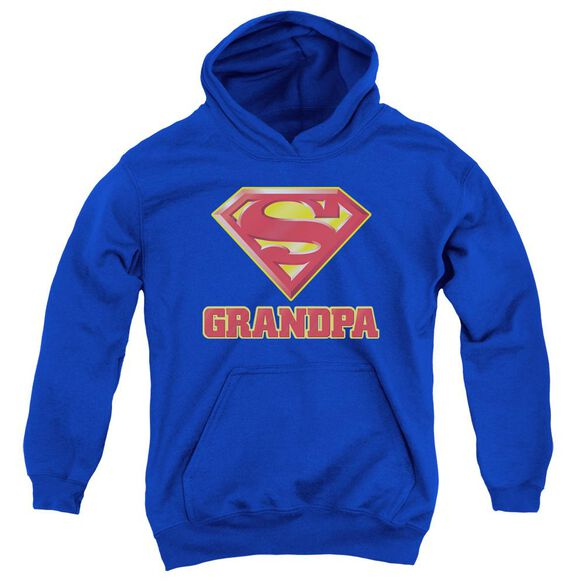 Superman Super Grandpa Youth Pull Over Hoodie
