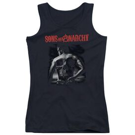 Sons Of Anarchy Skull Back Juniors Tank Top