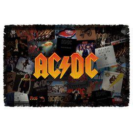 Acdc Albums Woven Throw