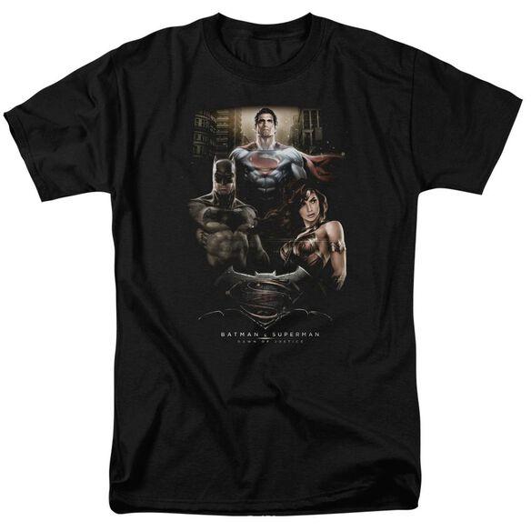 Batman V Superman Thre Three Short Sleeve Adult Black T-Shirt