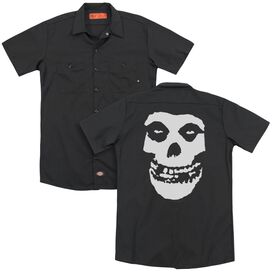 Misfits Fiend Skull (Back Print) Adult Work Shirt