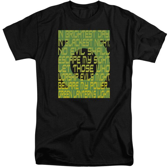 Green Lantern Green Lantern Oath Short Sleeve Adult Tall T-Shirt