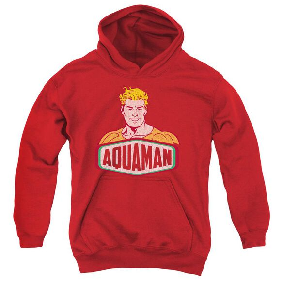 Dco Aquaman Sign Youth Pull Over Hoodie