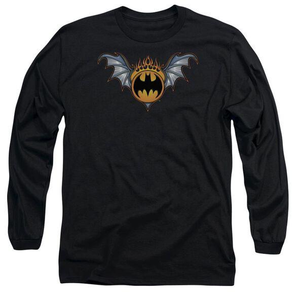 Batman Bat Wings Logo Long Sleeve Adult T-Shirt