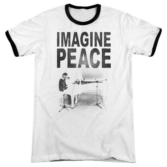 John Lennon Imagine Adult Ringer White Black