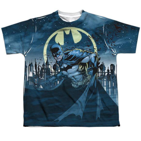 Batman Heed The Call Short Sleeve Youth Poly Crew T-Shirt