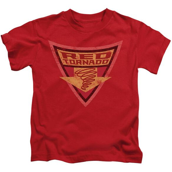 Batman Bb Red Tornado Shield Short Sleeve Juvenile Red T-Shirt