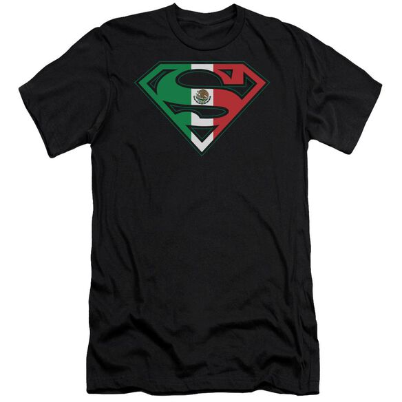 Superman Mexican Flag Shield Short Sleeve Adult T-Shirt