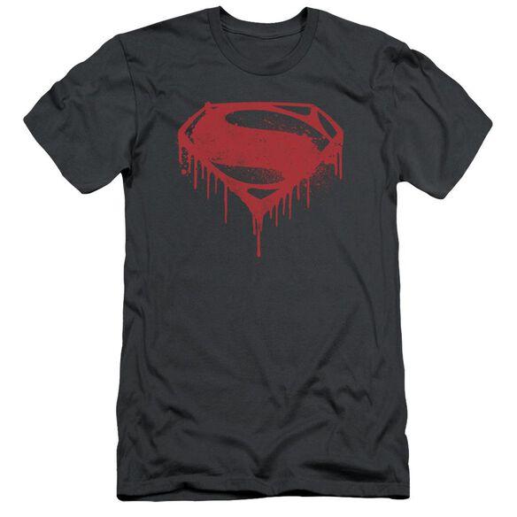 Batman V Superman Splattered Short Sleeve Adult T-Shirt