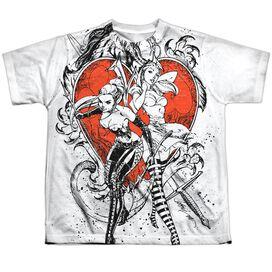 Zenoscope Bw Heart Short Sleeve Youth Poly Crew T-Shirt