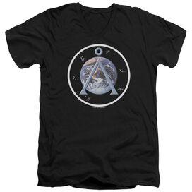 Sg1 Earth Emblem Short Sleeve Adult V Neck T-Shirt