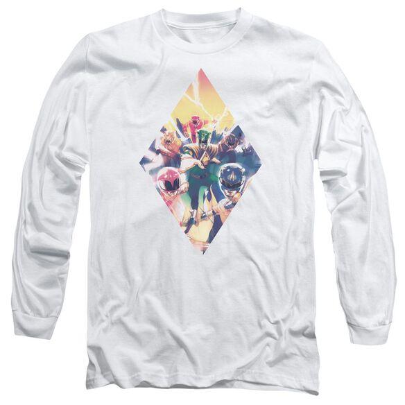 Power Rangers Sdcc Ranger Diamond 1 Long Sleeve Adult T-Shirt