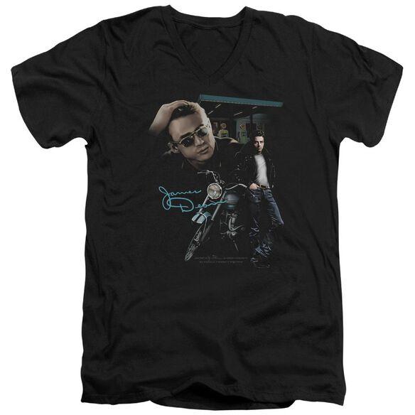 Dean Pit Stop Short Sleeve Adult V Neck T-Shirt