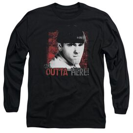 Three Stooges Get Outta Here Long Sleeve Adult T-Shirt