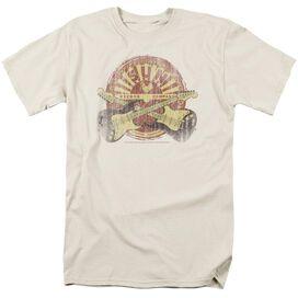 Sun Crossed Guitars Short Sleeve Adult Cream T-Shirt