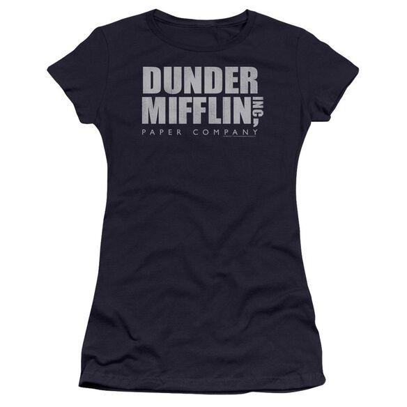The Office Dunder Mifflin Distressed Premium Bella Junior Sheer Jersey