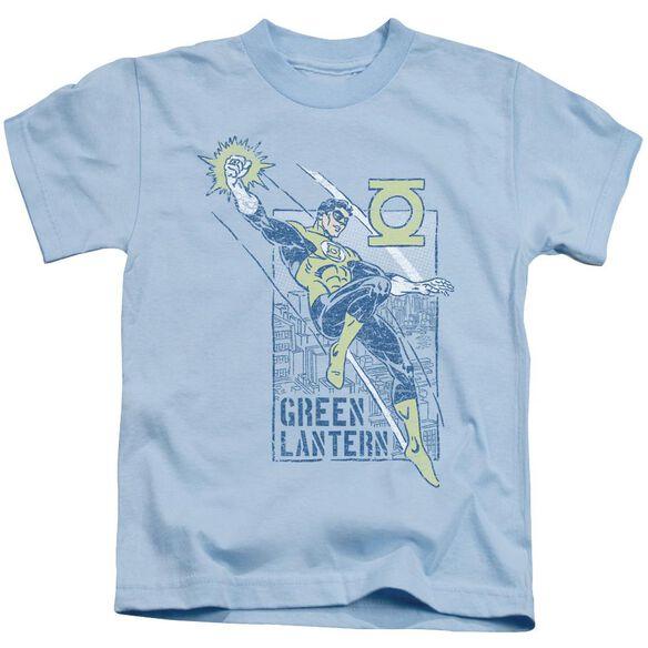 Green Lantern City Watch Short Sleeve Juvenile Light Blue T-Shirt