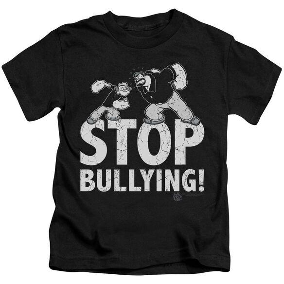 Popeye Stop Bullying Short Sleeve Juvenile Black Md T-Shirt
