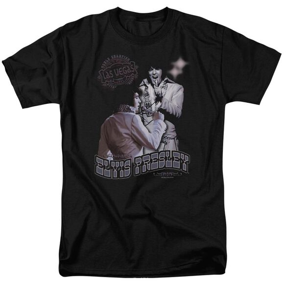 Elvis Violet Vegas Short Sleeve Adult T-Shirt