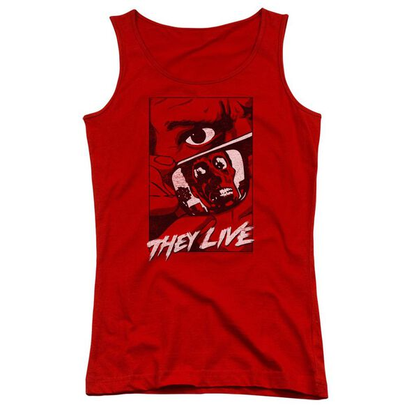 They Live Graphic Poster Juniors Tank Top