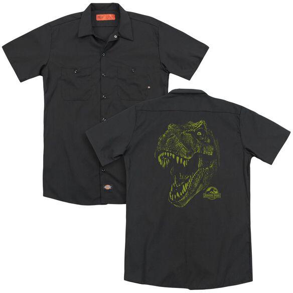 Jurassic Park Rex Mount (Back Print) Adult Work Shirt