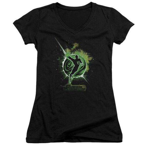 Green Lantern Shadow Lantern Junior V Neck T-Shirt