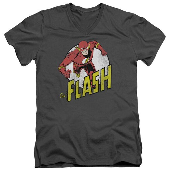 Dc Flash Run Flash Run Short Sleeve Adult V Neck T-Shirt