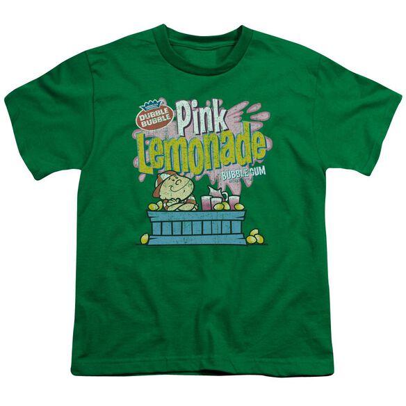 Dubble Bubble Pink Lemonade Short Sleeve Youth Kelly T-Shirt