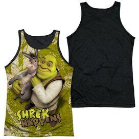 Shrek Best Friends Adult Poly Tank Top Black Back