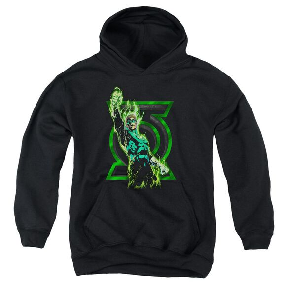 Green Lantern Fully Charged Youth Pull Over Hoodie