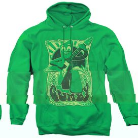 GUMBY VINTAGE ROCK POSTER - ADULT PULL-OVER HOODIE - KELLY GREEN