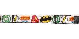 Justice League Superhero Logos White Mesh Belt