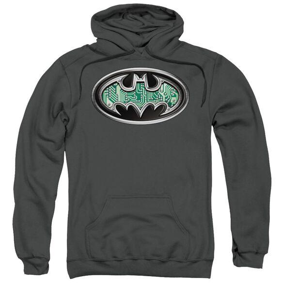 Batman Circuitry Shield Adult Pull Over Hoodie