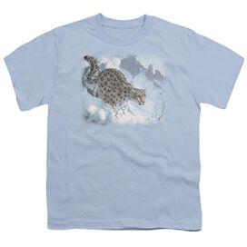 Wildlife Snow Leopard Short Sleeve Youth Light T-Shirt