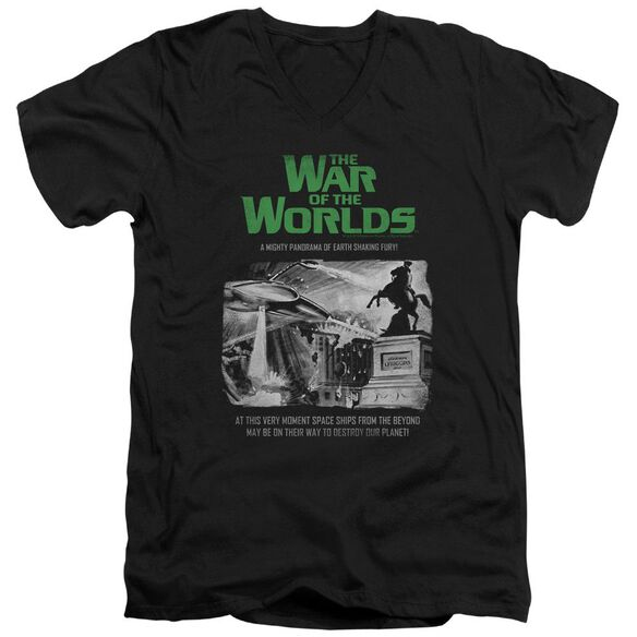 War Of The Worlds Attack People Poster Short Sleeve Adult V Neck T-Shirt
