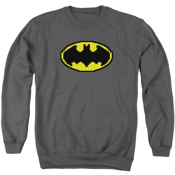 Batman Pixel Symbol Adult Crewneck Sweatshirt