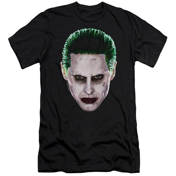 Suicide Squad Joker Head Hbo Short Sleeve Adult T-Shirt
